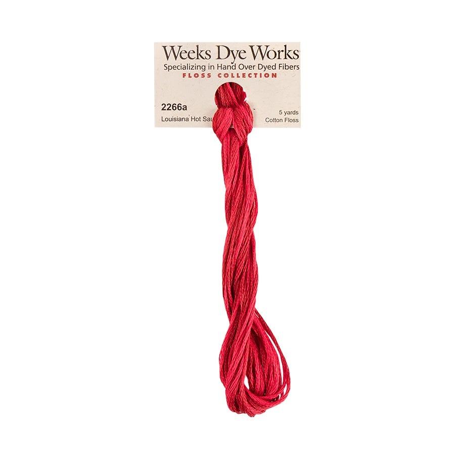 Weeks Dye Works Louisiana Hot Sauce 2266a WDW \u2022 6-Strand Embroidery Floss \u2022 Hand Over Dyed Fibers \u2022 Colorfast