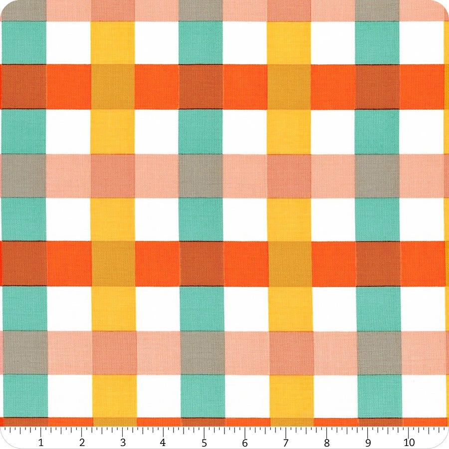 Windham Fabrics Big Gingham in Ocean Malibu by Heather Ross per half-yard
