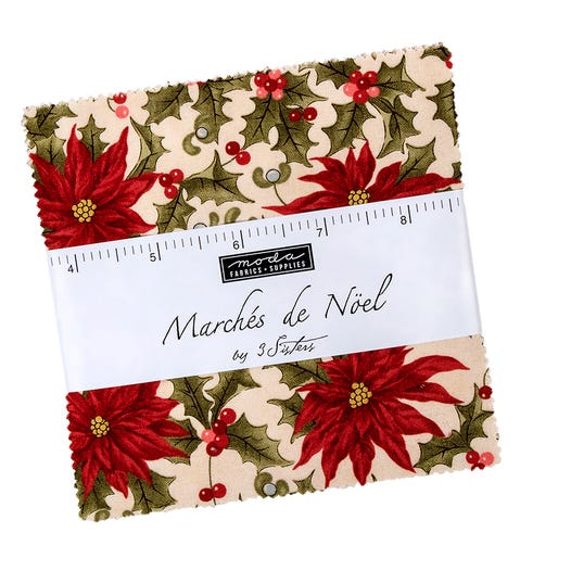 Marches de Noel Charm Pack | 3 Sisters for Moda Fabric | Fat