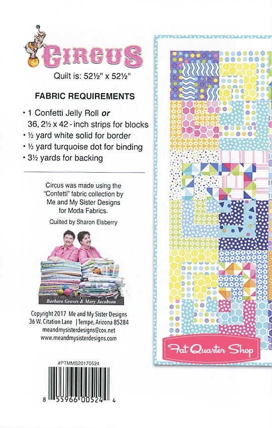 """10 10/"""" Quilting Fabric Squares Layer Cake Pre Cut Quilting Baby Circus"""
