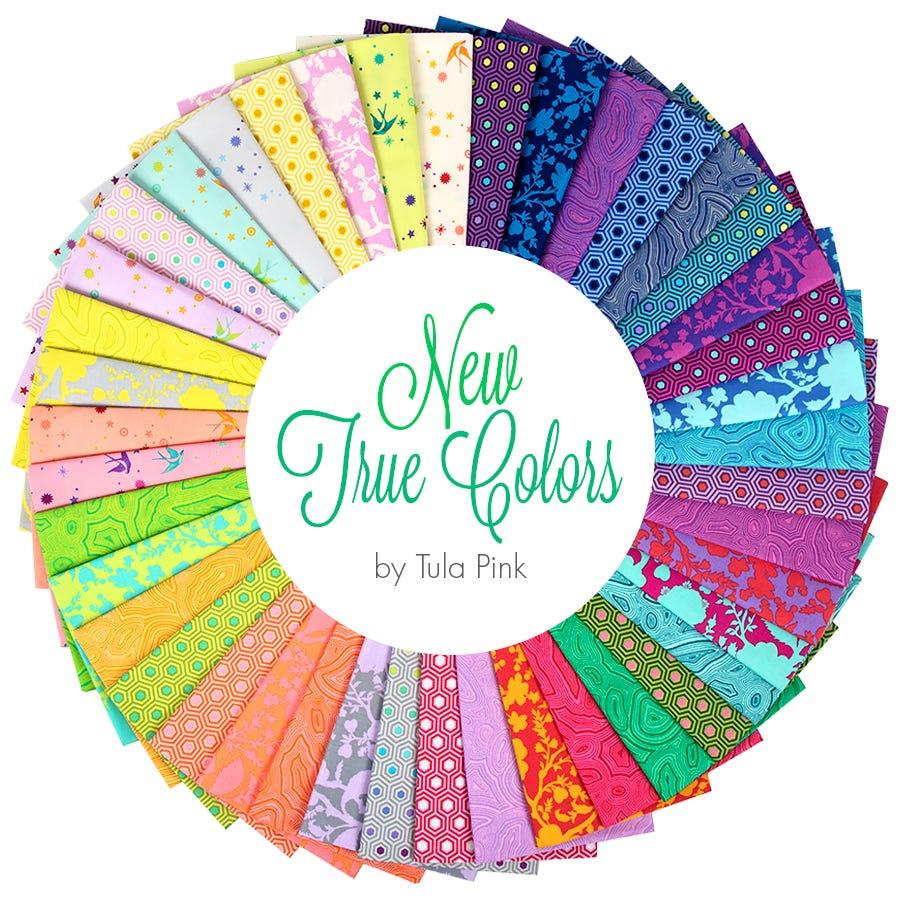 Tula Pink All Stars Fat Quarter Bundle of 42 plus fat quarters of 22 coordinating solids