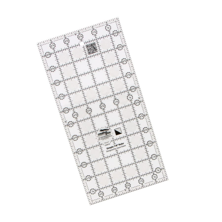 Creative Grids Simple 7//8 Triangle Maker Quilting Ruler Template CGR78