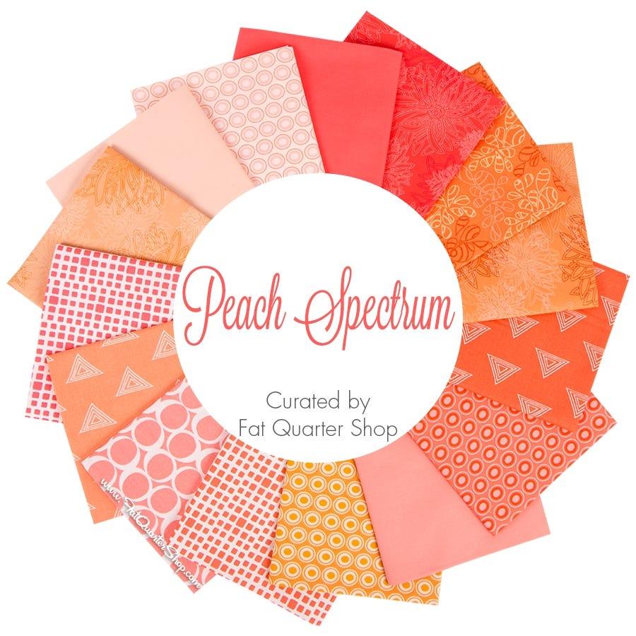 Peach Spectrum Fat Quarter Bundle Curated By Fat Quarter Shop Featuring Art Gallery Fabrics Fat Quarter Shop,Crochet Beanie Pattern