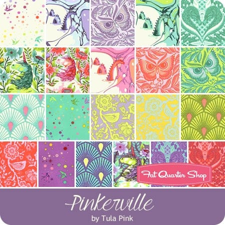 """Free Spirit Pinkerville by Tula Pink QBTP002 2 Frolic Pinkerville 108/"""" Cotton"""