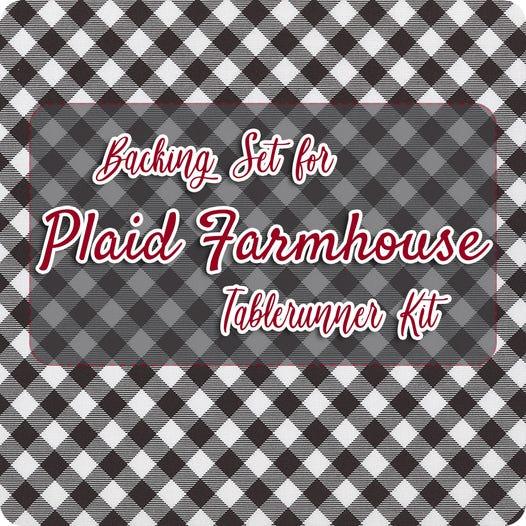 Plaid Farmhouse Tablerunner Kit Featuring Priscilla S Pretty Plaids By Priscilla Blain Of Stitching With The Housewives Fat Quarter Shop