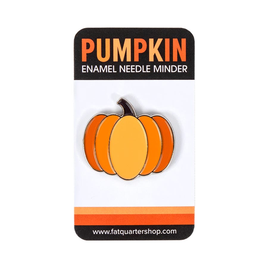 Squidge the Pumpkin Halloween Needle Minder For Cross Stitch// Embroidery,
