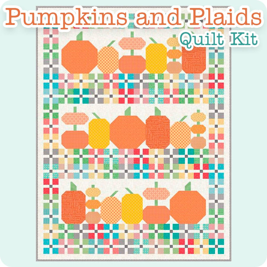 Pumpkins and Plaids Quilt Kit