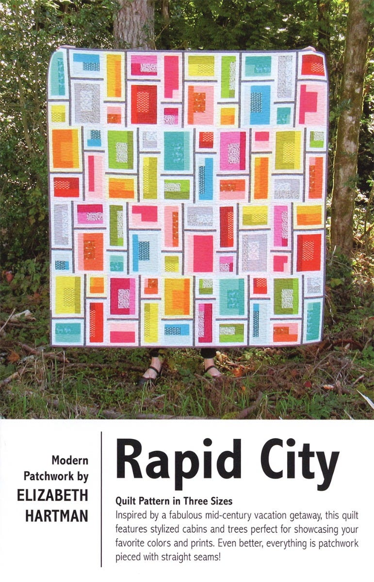 Rapid City Modern Patchwork Quilt Pattern by Elizabeth Hartman EHMP001