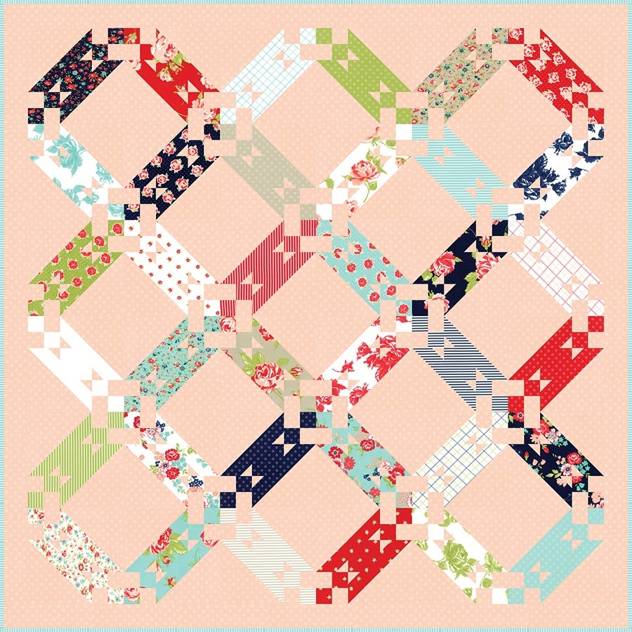 """Smitten Bonnie and Camille Moda Jelly Roll 2.5/"""" x 42/"""" Strips Quilting Cotton"""
