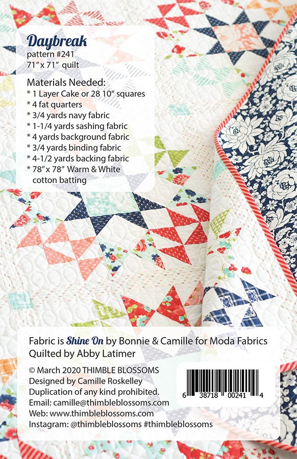 Bake A Cake Quilt Kit using Bonnie and Camille Wovens by Thimbleblossoms-