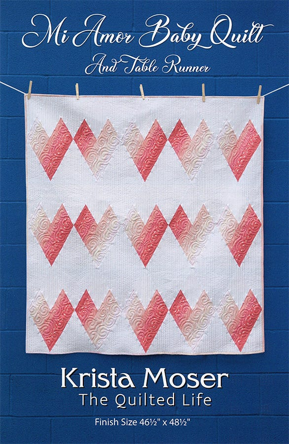 Baby Quilt Patterns.Mi Amor Quilt Pattern The Quilted Life Tql10013 Fat Quarter Shop