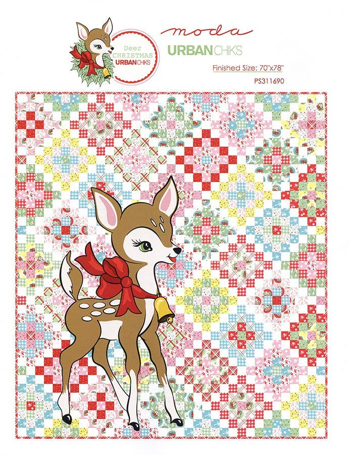 Deer Christmas Quilt Pattern Free Pdf By Urban Chiks Fat Quarter Shop