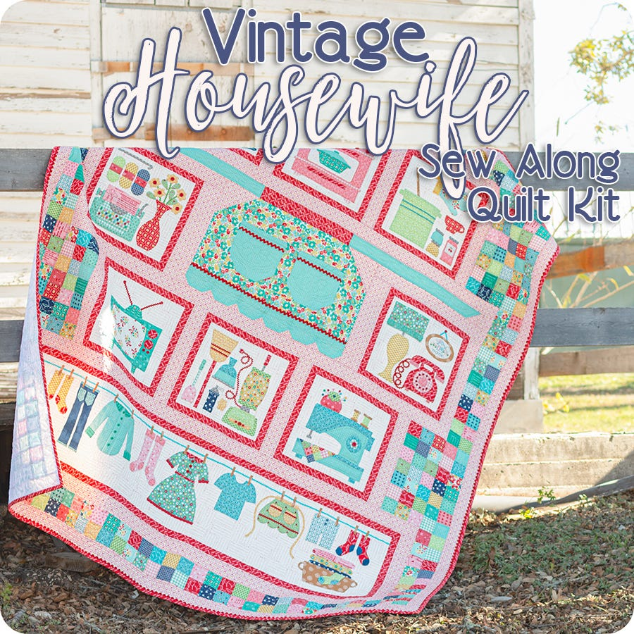Vintage Sewing Box /& Supplies Patchwork Quilting Kit Included Cushion Craft Sale