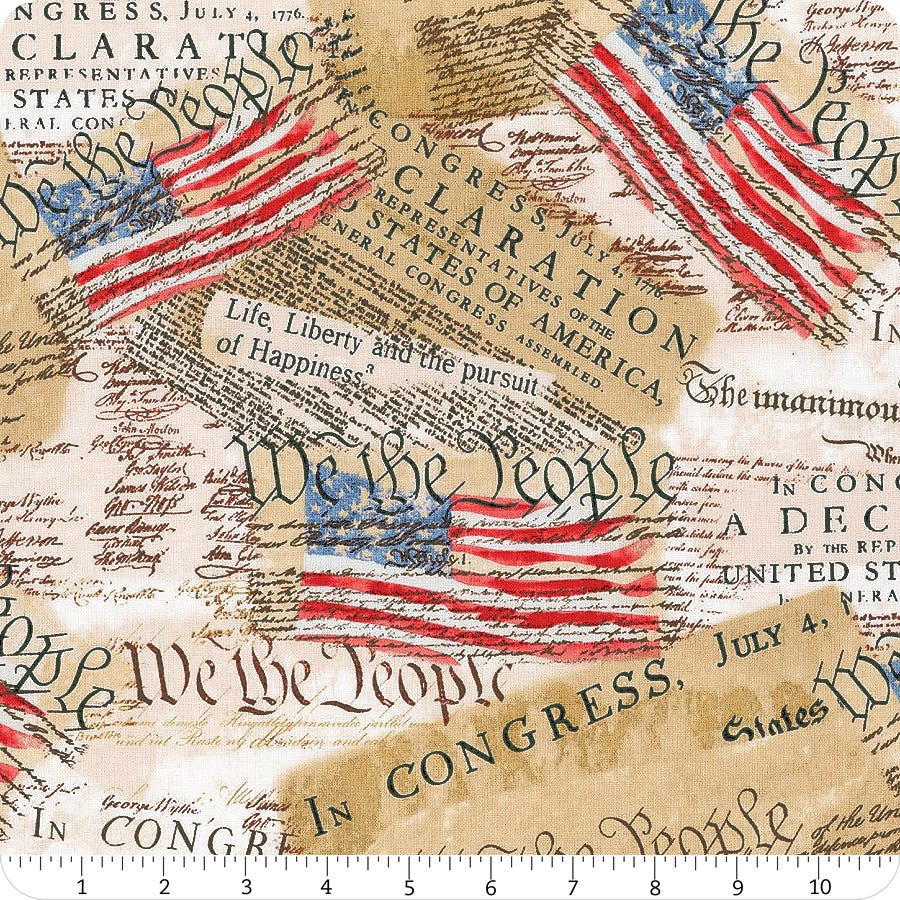 Timeless Treasures We the People fabric