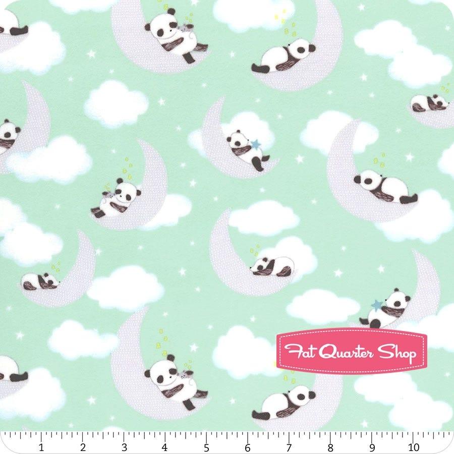Fabric 100/% Cotton Dear Stella 1149 Sleeping Panda Mint