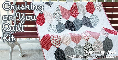 Crushing on You Quilt Kit featuring First Crush from Moda Fabrics