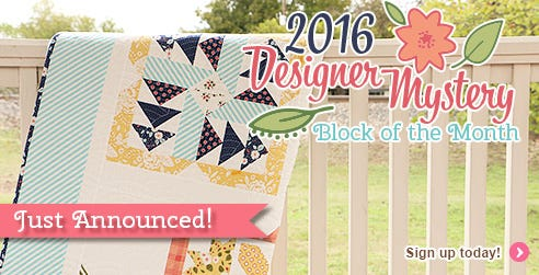 2016 Designer Mystery Block of the Month