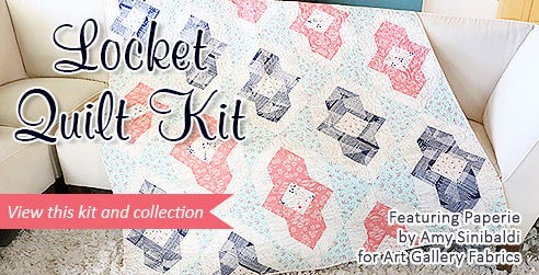 Locket Quilt Kit Featuring Paperie by Amy Sinibaldi