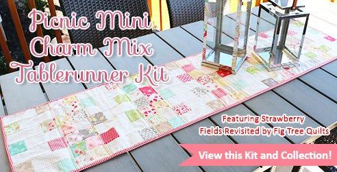 Picnic Mini Charm Mix Tablerunner Kit