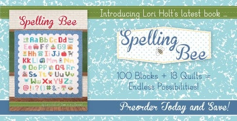 Spelling Bee Quilting Book by Lori Holt of Bee in my Bonnet