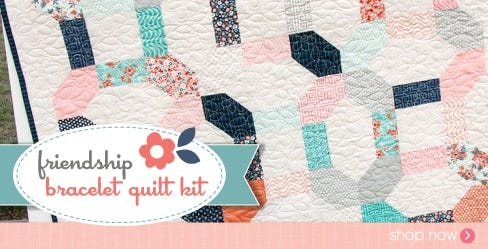 Friendship Bracelet Quilt Kit Featuring Sweet Marion by April Rosenthal