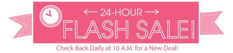 24 Hour Flash Sales at the Fat Quarter Shop!