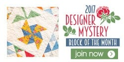 2017 Designer Mystery Block of the Month