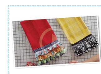 Click to Watch Quick Points Rulers Tea Towel Project with Kimberly and Janet Platt