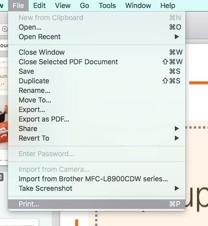 File Print Mac