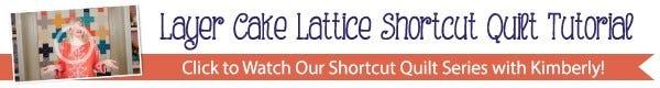Layer Cake Lattice Quilt Kit Youtube Tutorial