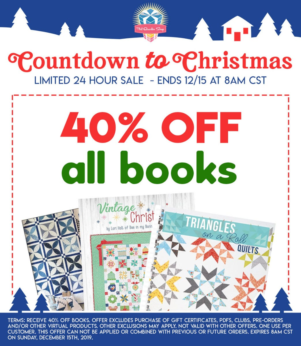 Countdown to Christmas Quilting Book Sale