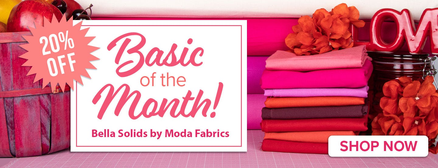 Moda Bella Solids Quilting Fabric on Sale