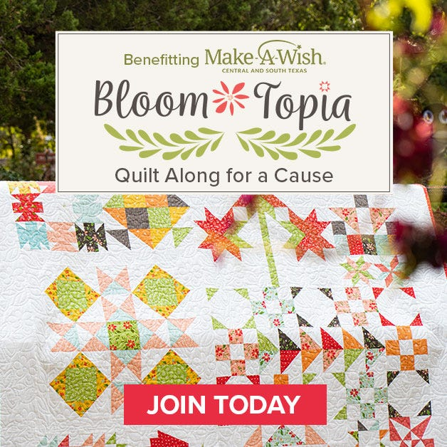 Bloom-Topia Quilt Kit Featuring Summer Sweet by Sherri & Chelsi