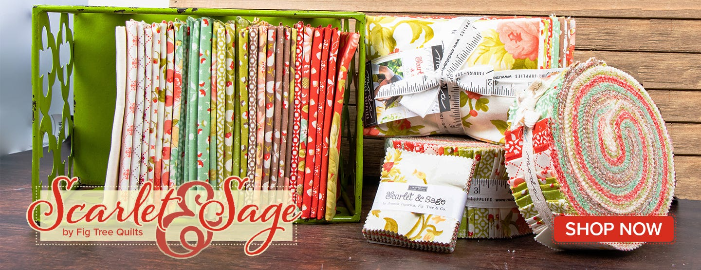 Scarlet and Sage by Fig Tree & Co. for Moda Fabrics